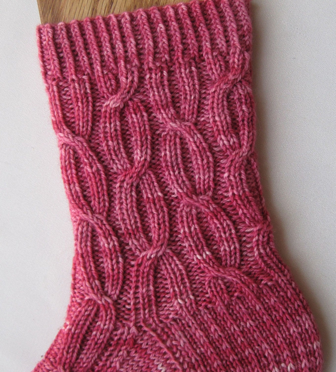 Knit Sock Pattern: Easy Cable Ribbed Socks Knitting Pattern