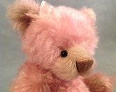 Teri Kehrli presents Pink Chablis OOAK Artist Mohair Teddy Bear