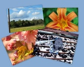Set of 4 Mix and Match Photo Notecards