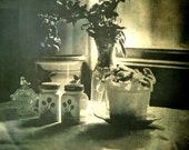 Cabin, Late Afternoon Light 8.5 x 11 Photograph: still life - black & white - home - vintage - flowers - wall art - fine art photography
