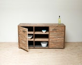 Reclaimed Wood and Iron 'Pyrenees' Sideboard Media Cabinet