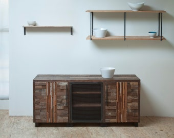 Beautifully Sustainable 'Shenandoah' Cabinet - Reclaimed Wood and Steel