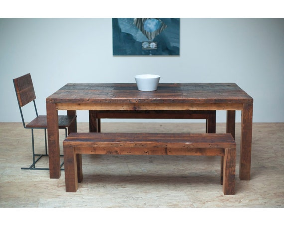 Items Similar To Beautiful Modern Dining Table Reclaimed Wood On Etsy
