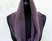 cashmere cowl neck warmer scarf purple