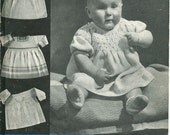 Bairnswear 72 Vintage Knitting Pattern Babies Dresses 1 to 6 Months - Four Dress Patterns
