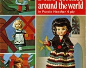 Patons 3009 Vintage Knitting Patterns for 18in Doll - Doll's Clothes Around the World
