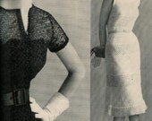 Vogue Knitting 1960 Two Vintage Evening Dress Patterns Retro Mod Mad Men