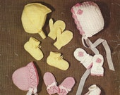 Orchid Wools 204 Vintage Knitting and Crochet Patterns for Babies - Booties, Mittens and Bonnets