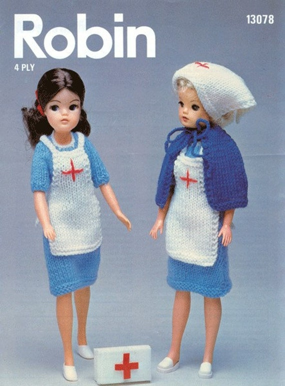 Knitting Pattern For Nurse Doll : Robin 13078 Vintage 12inch Sindy Doll by vintagemadamedefarge