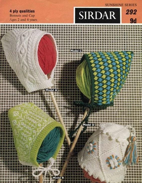 Free Sirdar Knitting Patterns To Download : Sirdar 292 Vintage Knitting Pattern Girls by vintagemadamedefarge