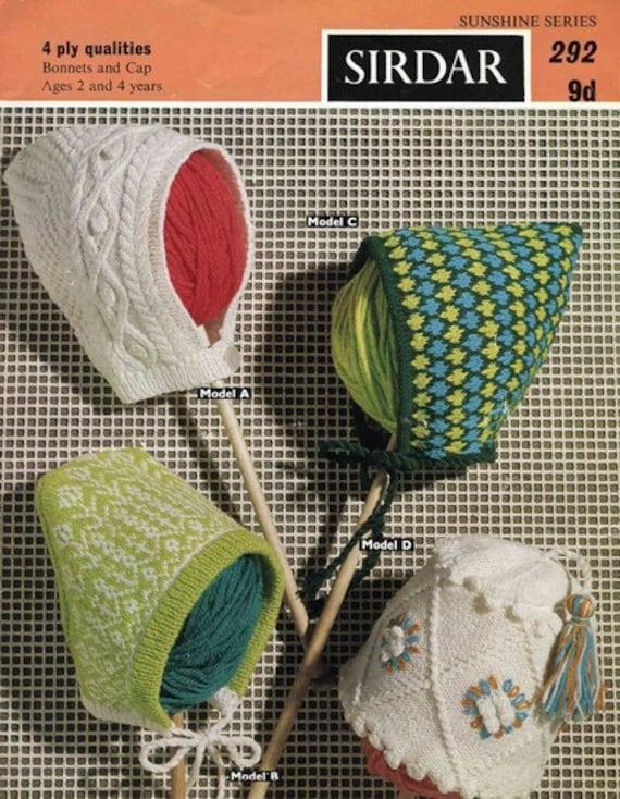 Sirdar 292 Vintage Knitting Pattern Girls by vintagemadamedefarge