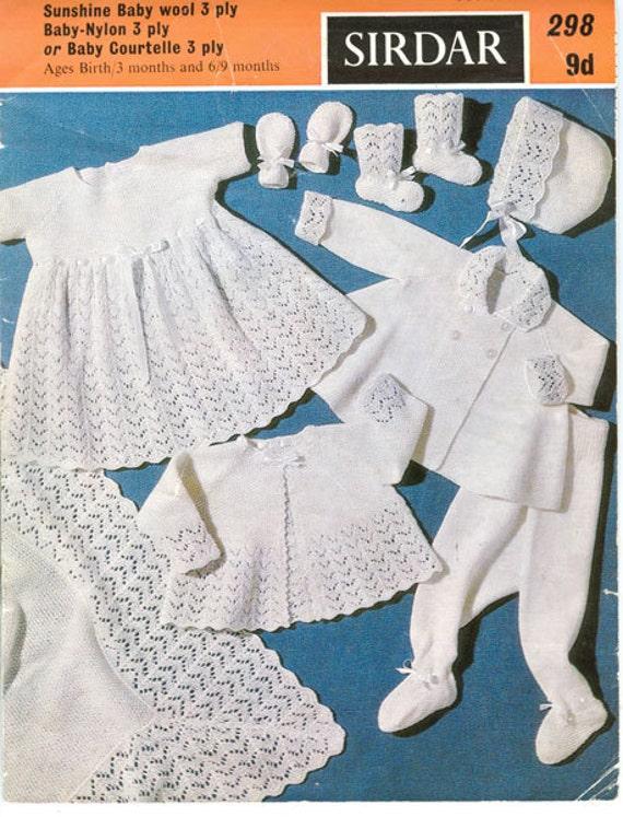 Sirdar 298 Vintage Knitting Pattern Baby by ...