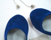Blu Elettrico Leather Handmade Ballet Flats - Reserved for Eriko