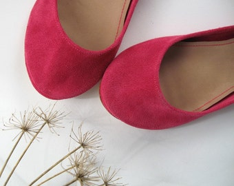 Magenta Soft Leather Handmade Ballet Flats