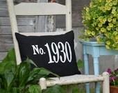 House Number Pillow Address Pillow Porch Pillow
