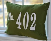 Outdoor Pillow House Number Address Sunbrella Fabric