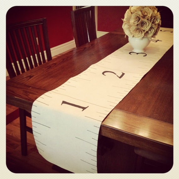 Reserved for Connie Custom Sewing RULER TABLE RUNNER