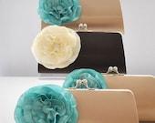 SET Of 10 Medium Clutches..Custom made Wedding clutch, Bridesmaid clutch, Bridal clutch, Prom Clutch