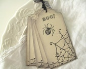 Halloween Gift Tags Boo Filigree Spider Spiderweb Halloween Party Favors