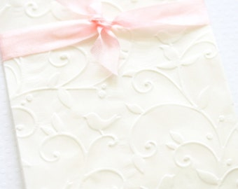 Cookie Buffet Glassine Bags Set of 10 Embossed Little Bird Candy Buffet Bags Cookie Favors