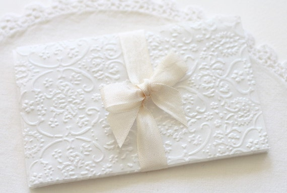 Glassine Gift Envelopes Embossed French Lace Glassine:Set of 20
