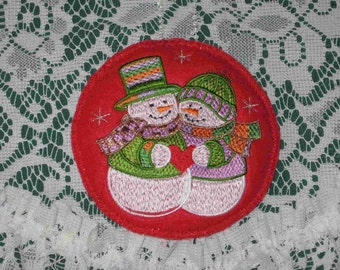 CHRISTMAS - snowman ornament, ornament gift exchange, gift idea under 10