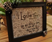 I love you because...   Framed message board