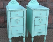 Shabby Ocean CHIC NIGHTSTANDS End Table Stand Recycle