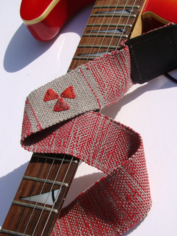 "Radio Active Guitar Strap 2"" - Handwoven"
