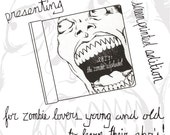 ABZ's: the Zombie Alphabet Book, Original screen printed hard cover book, Limited Edition