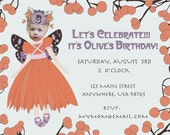 Fairy Princess Invitation -  Personalized and Printable