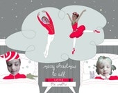 Twas The Night Before Christmas Family Photo Holiday Card - Personalized & Printable Digital File