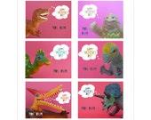 Valentines: Six Toothy Printable School Valentines
