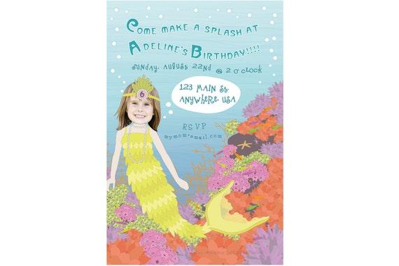 Mermaid Invitation - Personalized and Printable