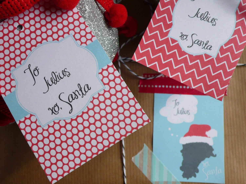 Printable Christmas Tags From Santa From santa: gift tags - 9