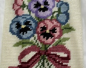 Pansies in Bloom Computer Mousepad in Plastic Canvas