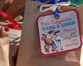 Printable Cowgirl/Cowboy Toy Story Birthday Party Collection- Favor Tags Fara Party Design