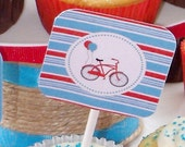 Printable-Retro Bike Collection- 2 inches Squares-Personalized by Fara Party Design