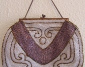 ON SALE Antique French Flapper Purse