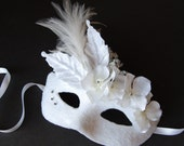 Snow Flowers- Fairy Halloween or masquerade mask