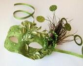 Fern Tendrils - fairy, Mardi Gras, Venetian, masquerade mask