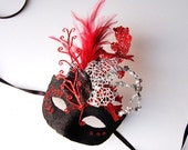 Silver Blackjack- fairy, Mardi Gras, Venetian, masquerade mask