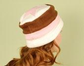 polar fleece winter hat- STAR- Neapolitan- size M/L