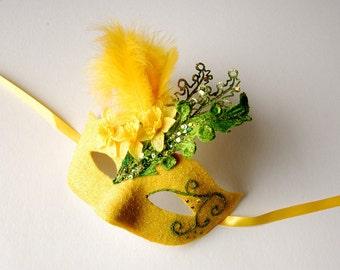 MASK- Daffodil Glade- masquerade mask, Mardi Gras,ballroom, fairy, Venetian, Halloween