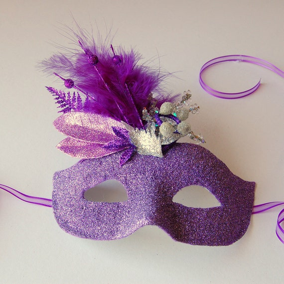 Lilac Twilight - fairy, Mardi Gras, Halloween or masquerade mask