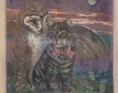 Victoriana - Owl, Pussycat: limited edition signed art prints, cards, original art
