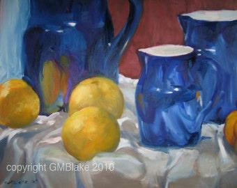 Oranges and Blues: - original art