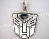 Sterling Silver Transformers Autobot Decepticon Pendant