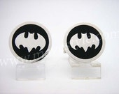 Sterling Silver Batman Sign Cufflinks