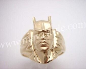 Gold Batman Ring Bat Man Bague en Or Memorabilia Comic